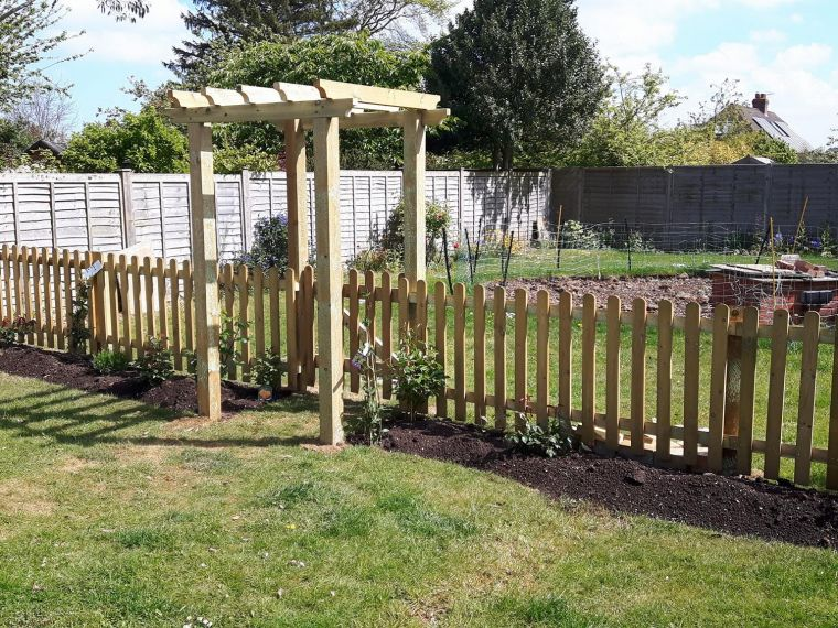 Picket Fence With Pergola In Salisbury