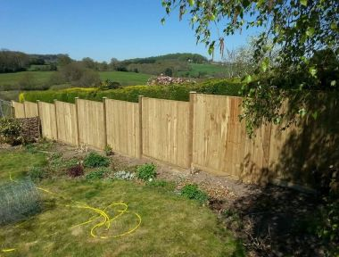Closeboard Panels on 100x100 posts, Donhead St Andrew